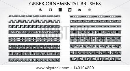 Vector Illustration of Greek Ornamental Border for Design, Website, Background, Banner. Use National Element in Invitation or Brend Style Template