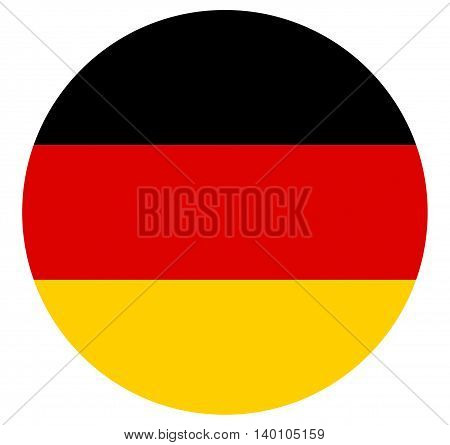 Round shaped Illustration of the Flag of Germany