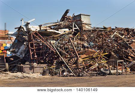Metal Scrap In Junkyard