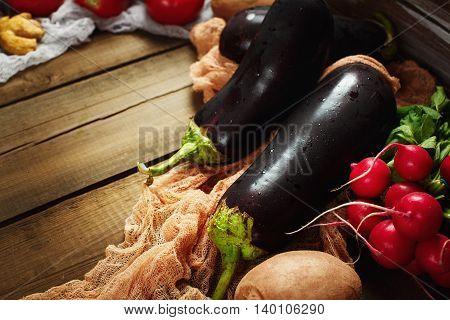 Great Eggplants (aubergines) Close-up