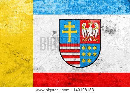 Flag Of Swietokrzyskie Voivodeship, Poland, With A Vintage And O