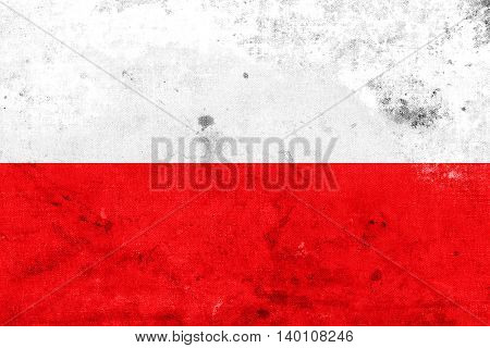 Flag Of Thuringia, Germany, With A Vintage And Old Look