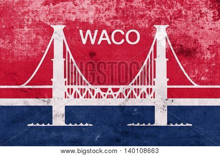 Flag Of Waco, Texas, Usa, With A Vintage And Old Look