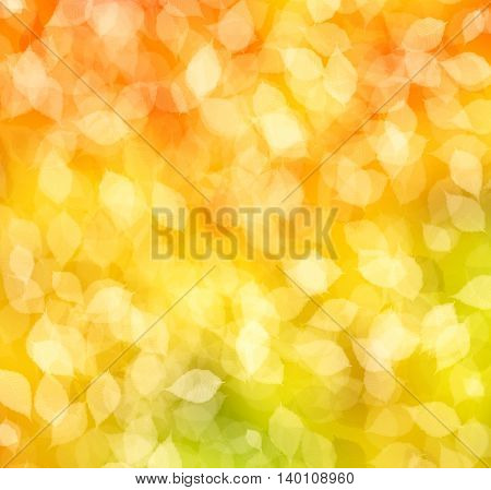 a autumn background with sunny rays