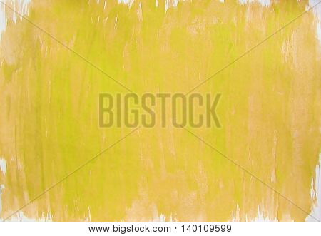 Painted light brown yellow orange green white watercolor background