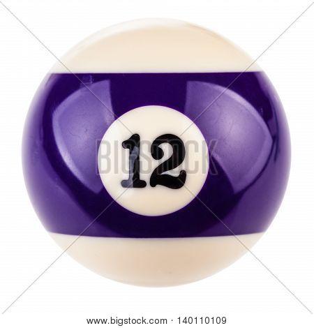 Pool Ball Twelve