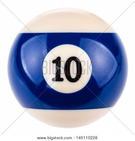 Pool Ball Ten