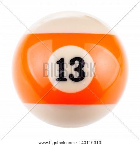 Pool Ball Thirteen
