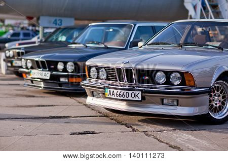 Kiev, Ukraine - 23 April, 2016: BMW M3 M5 M6 on exhibition of old cars - OldCarLand 2016.