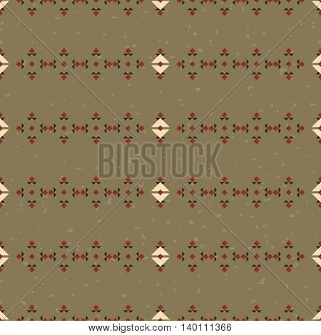 Geometric ethnic seamless pattern. Abstract aztec background. Digital or wrapping paper