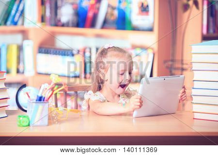 Kid  Reading Book, Pupil Learn Lesson and Dream, Education
