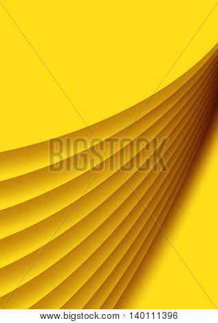 yellow background abstract design portrait orientation vector illustration