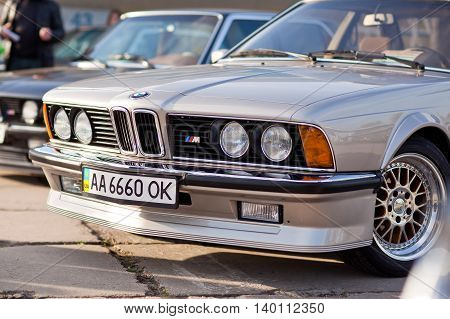 Kiev, Ukraine - 23 April, 2016: BMW M6 on exhibition of old cars - OldCarLand 2016.