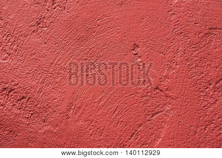 Wall painted in retro vivid pink texture