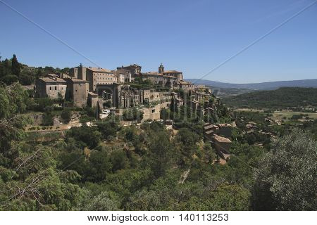 Mountain village Gordes in Vaucluse in France