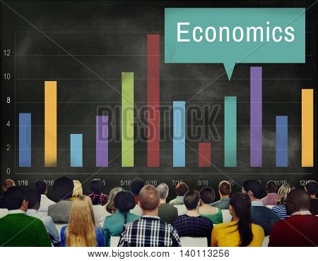 Economics Financial Growth Change Graph Concept