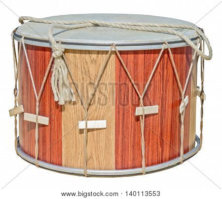 drum leather with sticks isolated on white background