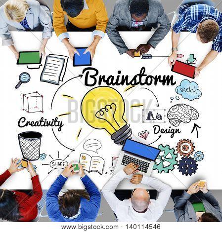 Brainstorming Analysis Planning Sharing Meeting Concept