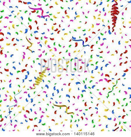 Vector Illustration of Confetti decoration colorful Pattern