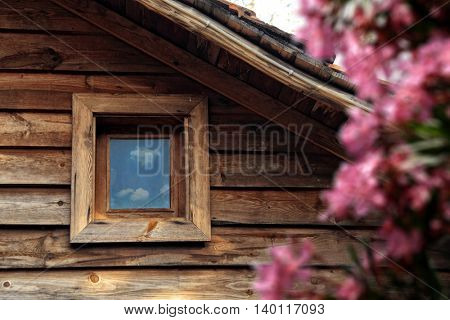 an image of rustic house detail