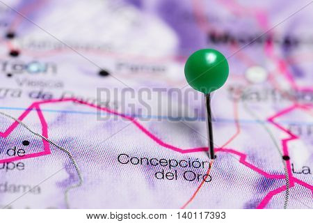 Concepcion del Oro pinned on a map of Mexico