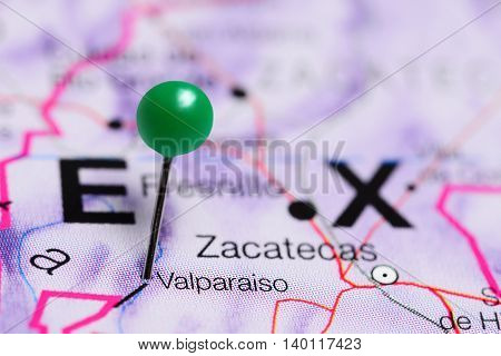 Valparaiso pinned on a map of Mexico