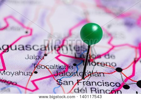 Jalostotitlan pinned on a map of Mexico