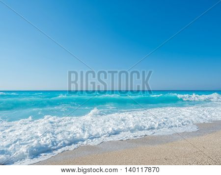 sand of beach caribbean sea