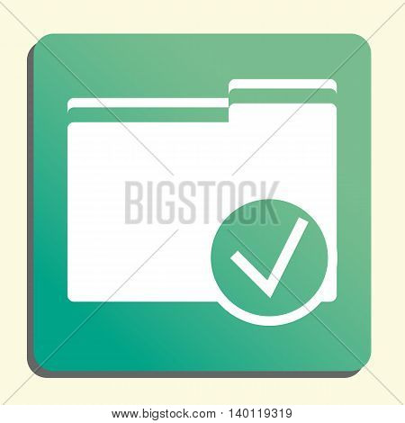 Folder Accept Icon In Vector Format. Premium Quality Folder Accept Symbol. Web Graphic Folder Accept