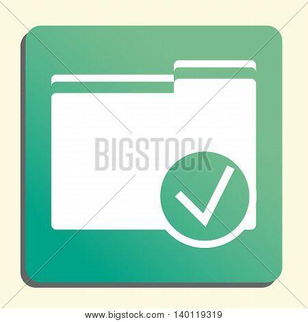 Folder Accept Icon In Vector Format. Premium Quality Folder Accept Symbol. Web Graphic Folder Accept