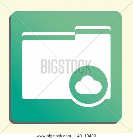 Folder Cloud Icon In Vector Format. Premium Quality Folder Cloud Symbol. Web Graphic Folder Cloud Si
