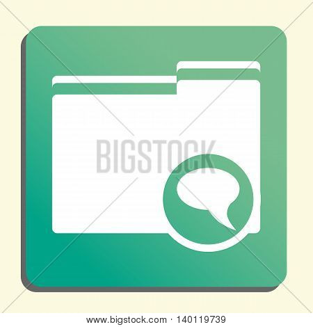 Folder Discussion Icon In Vector Format. Premium Quality Folder Discussion Symbol. Web Graphic Folde