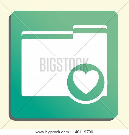 Folder Heart Icon In Vector Format. Premium Quality Folder Heart Symbol. Web Graphic Folder Heart Si