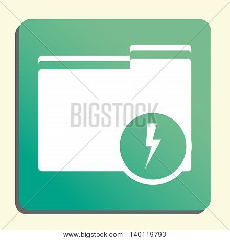 Folder Flash Icon In Vector Format. Premium Quality Folder Flash Symbol. Web Graphic Folder Flash Si