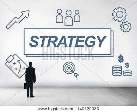Strategy Business Collaboration Planning Graphic Concept