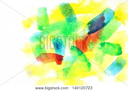 Variegated abstract watercolor background with copyspace