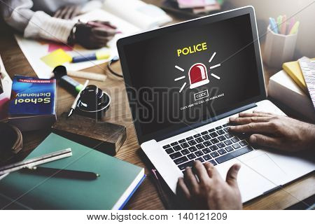 Police Policemen Government Security Service Concept