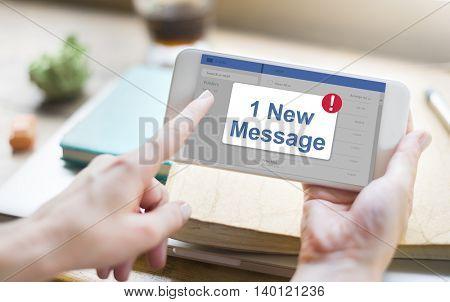 Message Inbox Notification Icon Concept