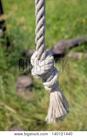 Knot at the end of the rope