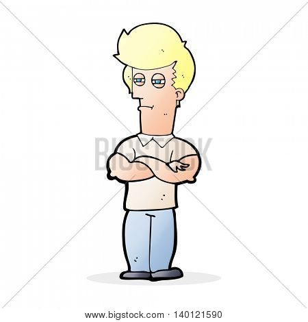 cartoon man with folded arms