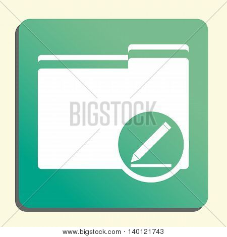 Folder Modify Icon In Vector Format. Premium Quality Folder Modify Symbol. Web Graphic Folder Modify