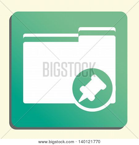 Folder Pin Icon In Vector Format. Premium Quality Folder Pin Symbol. Web Graphic Folder Pin Sign On