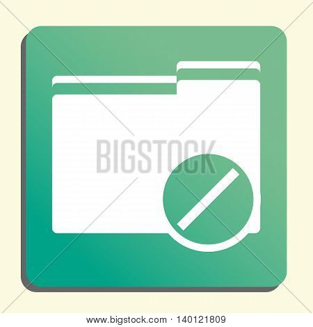 Folder Reject Icon In Vector Format. Premium Quality Folder Reject Symbol. Web Graphic Folder Reject