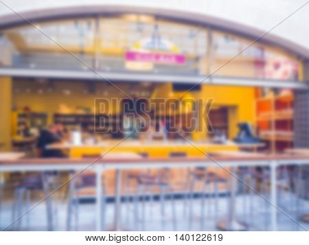 Abstract blur of coffee shop at San Francisco street