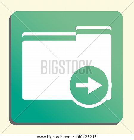 Folder Right Icon In Vector Format. Premium Quality Folder Right Symbol. Web Graphic Folder Right Si