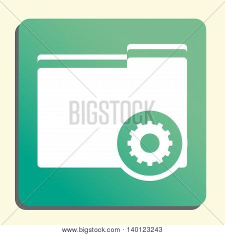 Folder Settings Icon In Vector Format. Premium Quality Folder Settings Symbol. Web Graphic Folder Se