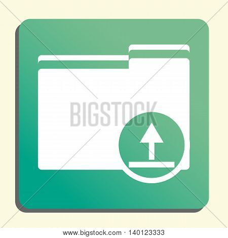 Folder Upload Icon In Vector Format. Premium Quality Folder Upload Symbol. Web Graphic Folder Upload