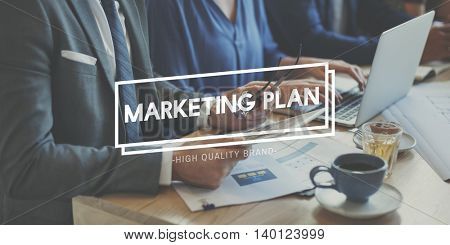 Marketing Commercial Research Plan Strategy Concept