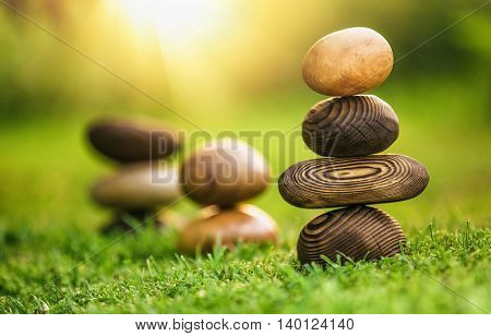 Natural background with stones