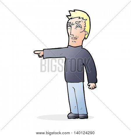 cartoon angry man pointing
